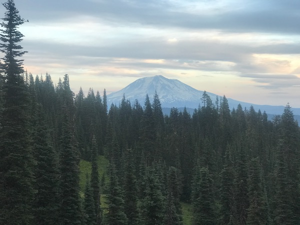 Image of a view of Mount Rainier