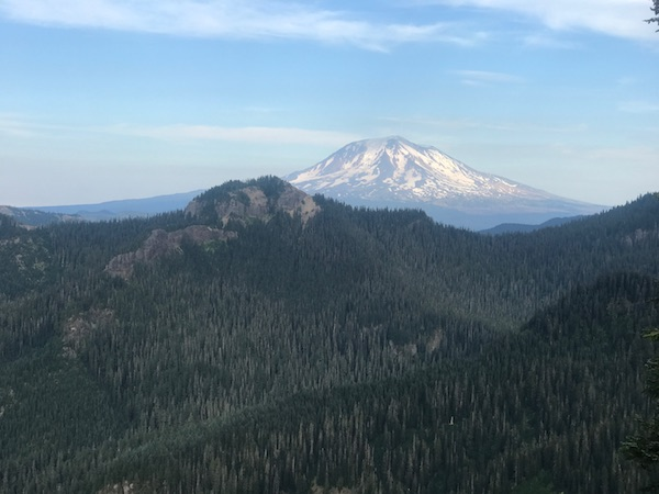 Image of a clear view of Mount Rainier